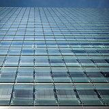 Modern building detail, glass wall