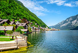 View of Hallstatt. Village in Austria