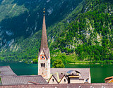 Rooftops of Hallstatt.Village in Austria