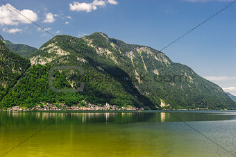 Beautiful mountains landscape of Hallstatt, village in Austria