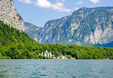 Beautiful mountains landscape of Hallstatt, village in Austria