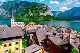 View of Hallstatt. Alpine village in Austria