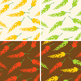 chili peppers pattern