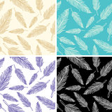 seamless feather pattern