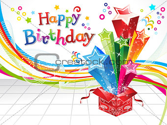 abstract happy birthday  background