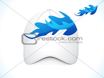 abstract blue cap template