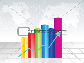 abstract colorful business chart background