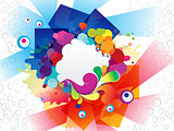 abstract colorful explode background