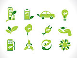 abstract green eco icon