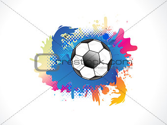Abstract colurful grunge football
