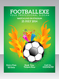 abstract football flyer