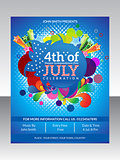 abstract fourth of july flyer template