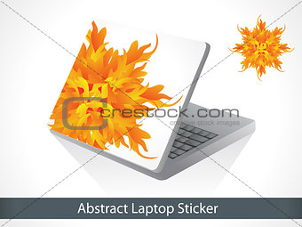 abstract colorful laptop sticker