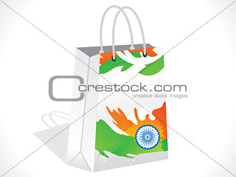 abstract indian shopping bag