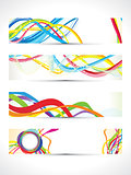 abstract multiple colorful web banners
