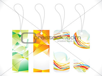 abstract multiple colorful sale tag