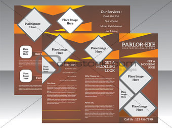abstract parlor tri fold brochure