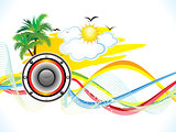abstract summer holiday party background