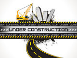 abstract underconstruction background