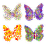 Abstract colorful butterflys