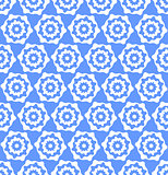 Seamless hexagons blue texture