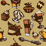 seamless texture with desserts