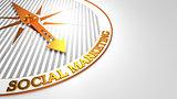 Social Marketing on White-Golden Compass.