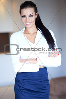 Beautiful confident woman with a charming smile