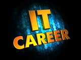 IT Career Concept on Digital Background.