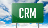 CRM on Green Highway Signpost.