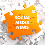 Social Media News on Yellow Puzzle.