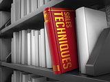 Sales Techniques - Title of Book.