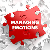 Managing Emotions on Red Puzzle.