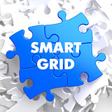 Smart Grid on Blue Puzzle.
