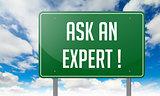 Ask An Expert on Green Highway Signpost.