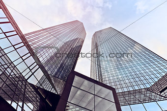 modern office towers