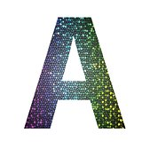 letter A of different colors