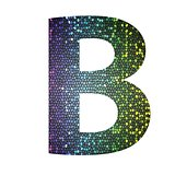 letter B of different colors
