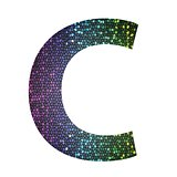 letter C of different colors