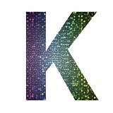 letter K of different colors