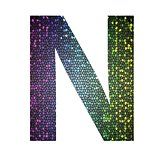 letter N of different colors