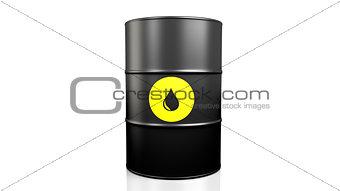 Black oil barrel.