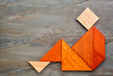 tangram sitting figure