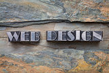 web design in metal type