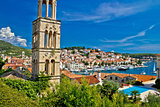 Famous Hvar yachting waterfront view