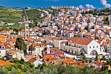 Town of Hvar famous Pjaca square view