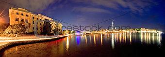 City of Zadar marina evening view