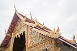 Roof art of phra singha temple in Chiang Mai, Thailand