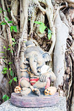 Interseting clay sculpture of little ganesha