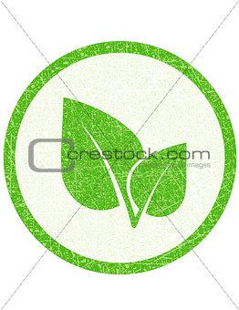 green leaf stamp